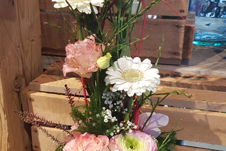 Arrangement florale en hauteur