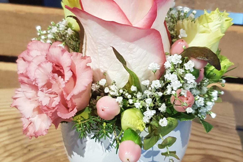 Arrangement florale rose