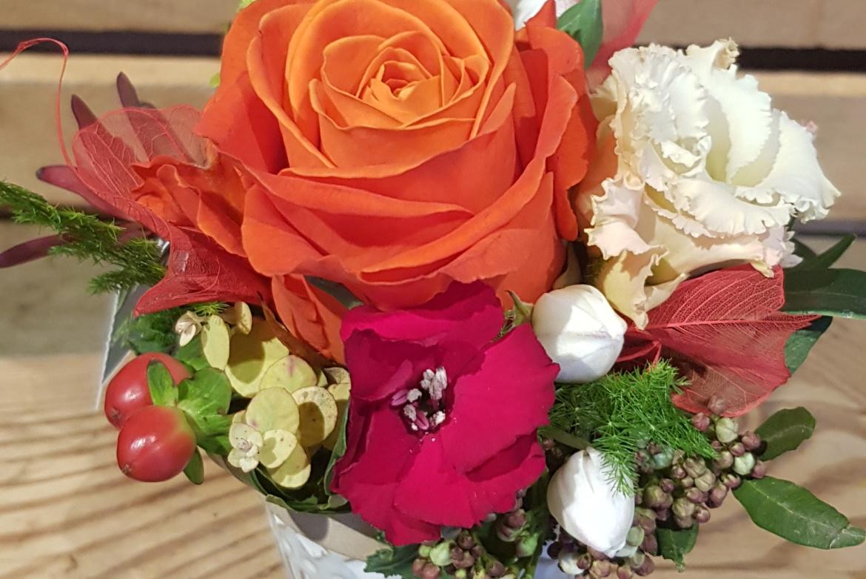 Arrangement florale orange
