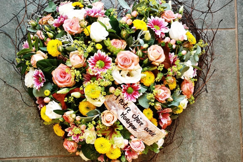 Cœur floral pastel