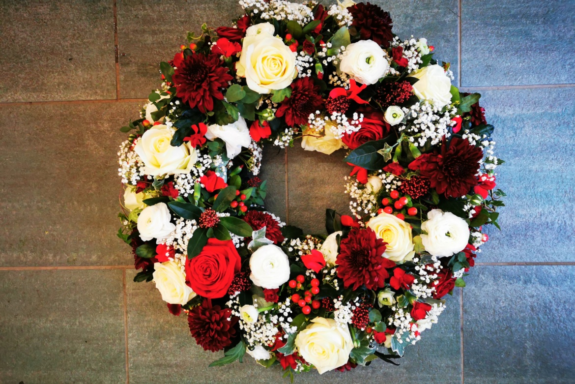Couronne floral rouge
