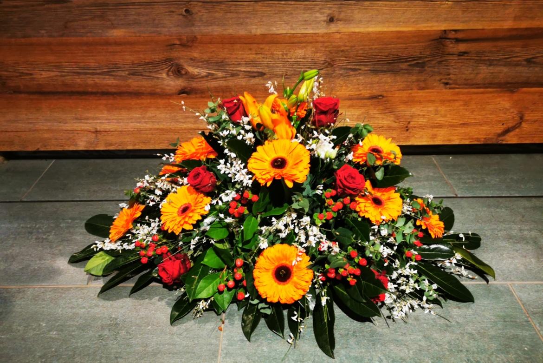 Gerbe florale orange