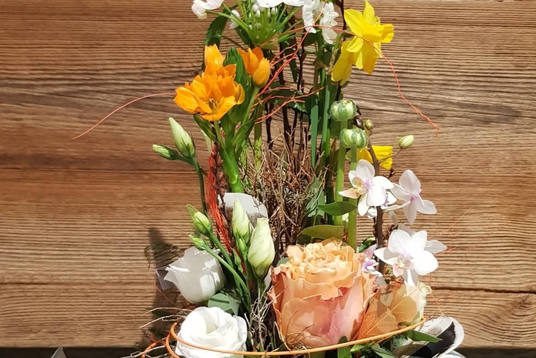 Arrosoir fleuri